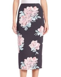 Elizabeth and James | Darci Floral-print Midi Pencil Skirt | Lyst