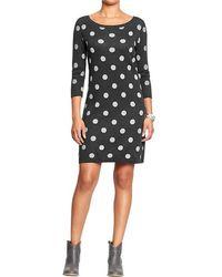 Old Navy Polka Dot Sweater Dresses - Lyst