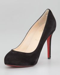 Christian Louboutin New Declic Suede Red Sole Pump - Lyst