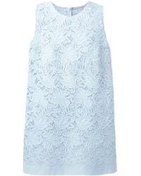 Ermanno Scervino Embroidered Lace Mini Dress - Lyst