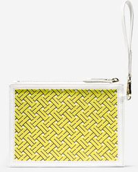 Cole Haan Signature Weave Small Pouch yellow - Lyst