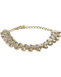 Dune - Jolie Diamante Trim Gold Metallic Bracelet - For Women - Lyst