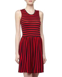 French connection Sleeveless Striped Jersey Dress - Lyst