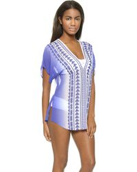 Milly Ombre Anguilla Embroidered Cover Up  - Lyst