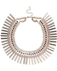 River Island Gold Tone Encrusted Collar Necklace - Lyst