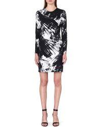Preen Birdprint Jersey Dress Bw Bird - Lyst