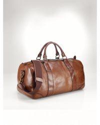 Polo Ralph Lauren Leather Duffel Bag - Lyst