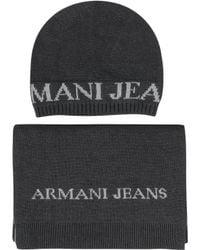 Armani Jeans - Dark Gray Knitwear Set - Lyst