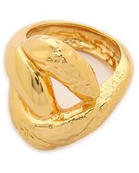 Alexis Bittar Rocky Link Ring - Gold - Lyst