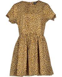 Chloë Sevigny x Opening Ceremony Short Dress beige - Lyst
