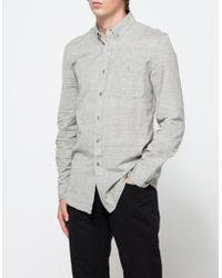 Topman Long Sleeve Grey Spacedye Nep gray - Lyst