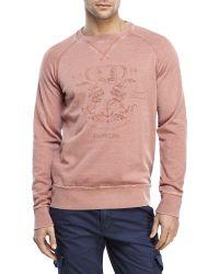 Dstrezzed - Graphic Raglan Fleece Sweatshirt - Lyst