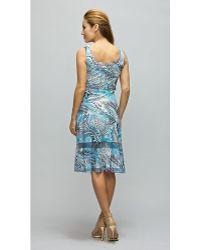 Komarov - Georgette Dress With Contrast Merrow - Lyst