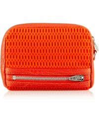 Alexander Wang Fumo Large Leathertrimmed Mesh Wallet - Lyst