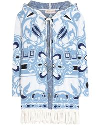 Emilio Pucci - Knitted Cotton Poncho - Lyst