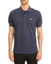 Lacoste Mottled Navy Classic Polo - Lyst