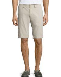 Neiman Marcus - Garment-dye Fixed-waist Shorts - Lyst