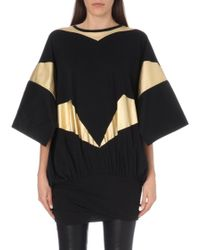 Vivienne Westwood Anglomania Shirl Metallic-foil Cotton-jersey Top - Lyst