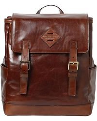 The Bridge - Handpainted Leather Backpack - Lyst