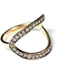 Ara Vartanian Brown Diamond Ring brown - Lyst