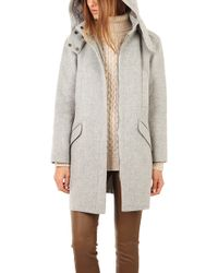 Vince Fur Lined Hooded Coat - Lyst