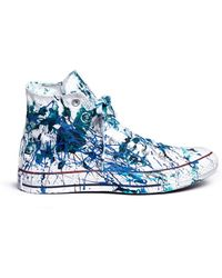Rialto Jean Project | One Of A Kind Hand-painted Splash High Top Sneakers - Sz 39 | Lyst
