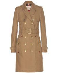 Burberry Brit Allington Cotton Trench Coat - Lyst