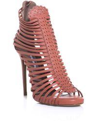 Tabitha Simmons Strippy Sandals - Lyst