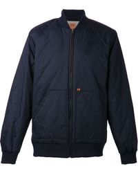 Obey Quilted Bomber Jacket - Lyst