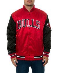 Mitchell & Ness The Chicago Bulls Satin Jacket - Lyst