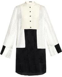 Alexander McQueen Contrast-Panel Kimono Dress - Lyst