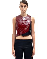 Paco Rabanne Womens Leather Panel Waistcoat - Lyst