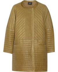 Isabel Marant Abadi Quilted Leather Cocoon Coat - Lyst