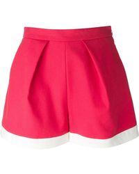 MSGM Red A-Line Shorts - Lyst