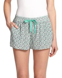 Joie Layana Printed Silk Shorts - Lyst