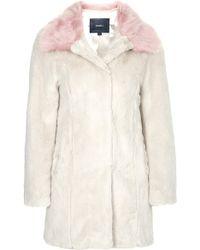 Topshop Candy Blossom Faux Fur Coat  - Lyst