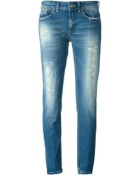 Dondup Distressed Boyfriend Jeans - Lyst