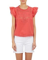 Etoile Isabel Marant Silo Embroidered Top - Lyst
