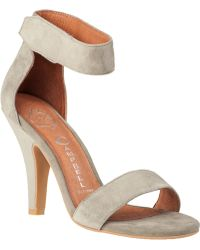 Jeffrey Campbell Hough Strap Sandal Grey Suede - Lyst