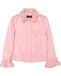 Simone Rocha X J Brand Pink Campbell Jacket With Ruffle - Lyst