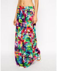 Seafolly Sonic Bloom Beach Skirt - Lyst