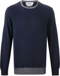 Ferragamo Quilted Knit Sweater - Lyst