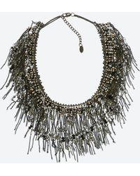 Zara Crystal Fringe Necklace - Lyst