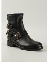 Giuseppe Zanotti Black Biker Boots - Lyst