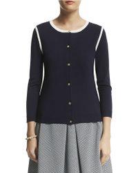 Anne Klein Three-quarter Sleeve Cardigan - Lyst