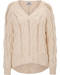 Moschino Cheap & Chic Cable Knit Sweater - Lyst