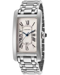 Cartier Pre-Owned Women'S Pre-Owned Tank Americaine 18K White Gold Off-White Dial - Lyst