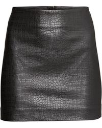 H&M Skirt in Imitation Leather - Lyst