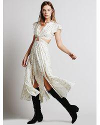 Free People Star Foil Jasper Midi Dress - Lyst