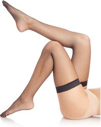 Wolford | Twenties Stay-up Thigh-high Fishnet Tights | Lyst